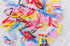 Elástico colorido imágenes de archivo libres de regalías