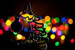` Eléctrico s Eve del Año Nuevo de la guirnalda Foto de archivo