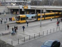 Elétrico em Dresden, Alemanha Fotografia de Stock Royalty Free