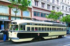 Elétrico histórico em San Francisco imagem de stock
