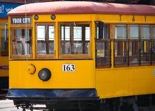 Elétrico velho na cidade de Ybor, Florida fotografia de stock