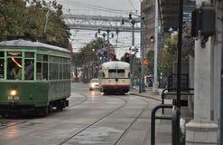 Elétricos em San Francisco fotografia de stock