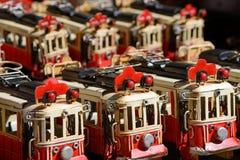 Elétricos vermelhos Fotos de Stock Royalty Free