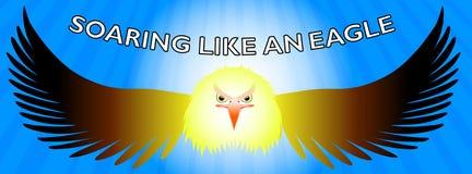 Elévese como una cronología de Facebook del águila stock de ilustración