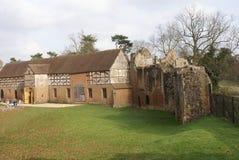Elżbietańska stajnia Kenilworth kasztel, Warwickshire, Anglia, Europa zdjęcie royalty free