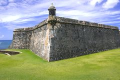 el堡垒胡安morro波多里哥圣 图库摄影