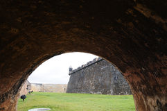 el堡垒morro波多里哥 免版税图库摄影