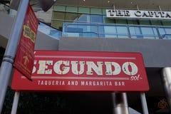 El塞贡多Taqueria拉斯维加斯,内华达 免版税库存图片