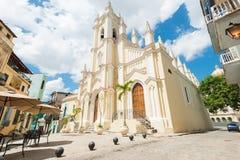 El天使教会在哈瓦那旧城 库存图片