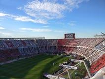 El巨大的橄榄球场 免版税库存图片