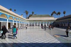El巴伊亚宫殿在马拉喀什 免版税库存照片