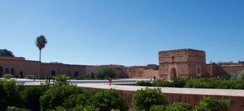 El巴迪宫殿,马拉喀什 免版税库存照片