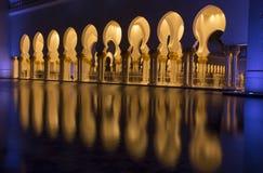 El扎耶德回教族长清真寺 免版税图库摄影