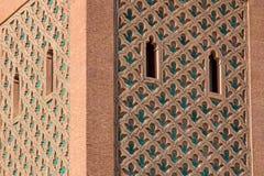 El曼索清真寺尖塔,马拉喀什,摩洛哥 库存图片