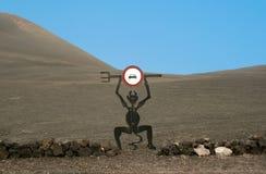 El空中陀螺在兰萨罗特岛, 免版税库存照片