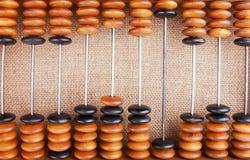 El ábaco en la arpillera Imágenes de archivo libres de regalías