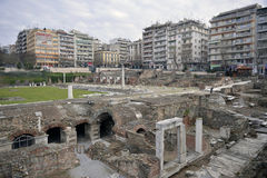 El ágora y Roman Forum griegos, Salónica, Grecia Imágenes de archivo libres de regalías