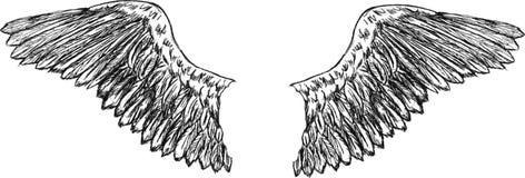 El águila se va volando vector Fotografía de archivo libre de regalías