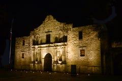 El Álamo en la noche, San Antonio, Tejas fotografía de archivo libre de regalías