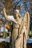 El ángel con se levantó Foto de archivo