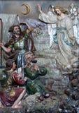 El ángel del señor visitó a los pastores y les informó nacimiento del ` de Jesús Imágenes de archivo libres de regalías