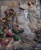 El ángel del señor visitó a los pastores y les informó nacimiento del ` de Jesús Foto de archivo