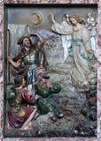 El ángel del señor visitó a los pastores y les informó nacimiento del ` de Jesús Fotografía de archivo libre de regalías