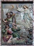 El ángel del señor visitó a los pastores y les informó nacimiento del ` de Jesús Imagen de archivo