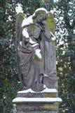 El ángel Nevado en el cementerio imagenes de archivo
