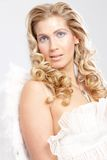 El ángel tiene gusto de la mujer Imágenes de archivo libres de regalías