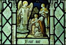 El ángel y los pastores Imagen de archivo libre de regalías