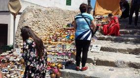 El árabe comercializa Ibiza España Imagen de archivo
