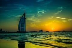 El árabe del Al de Burj es un hotel de las estrellas del lujo 5 Imagen de archivo libre de regalías
