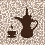 El árabe del pote del café ilustración del vector