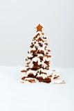 El árbol comestible hecho a mano del Año Nuevo del pan de jengibre Fotografía de archivo
