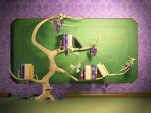 El árbol crece ilustración del vector