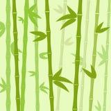 El árbol de bambú verde sale fondo de vector plano stock de ilustración