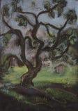 Árbol en verano stock de ilustración