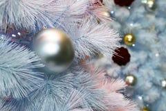 El árbol de la Navidaddecoración, celebración del Año Nuevo imagen de archivo libre de regalías