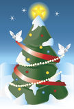 El árbol de navidad Foto de archivo