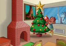 El árbol de Navidad Imágenes de archivo libres de regalías