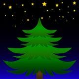 El árbol de navidad Foto de archivo libre de regalías