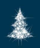 El árbol de navidad abstracto del vector protagoniza forma Fotos de archivo libres de regalías