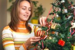 El árbol de navidad adorna Fotos de archivo
