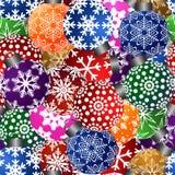 El árbol de navidad adorna el fondo inconsútil del azulejo Imágenes de archivo libres de regalías