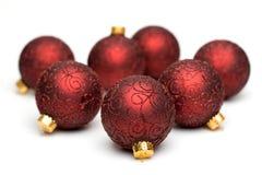 El árbol de navidad adorna III foto de archivo