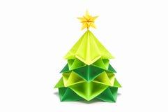 El árbol de navidad de papel tiene primero de la estrella fotos de archivo