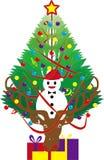 El árbol de navidad del reno Fotografía de archivo