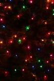 El árbol de navidad enciende el extracto Fotos de archivo libres de regalías