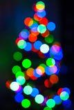 El árbol de navidad enciende el fondo Imágenes de archivo libres de regalías